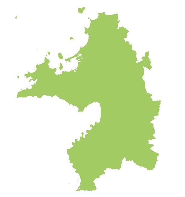 佐賀県の地図